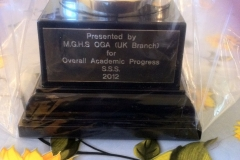 Trophy donated by MGHS OGA UK